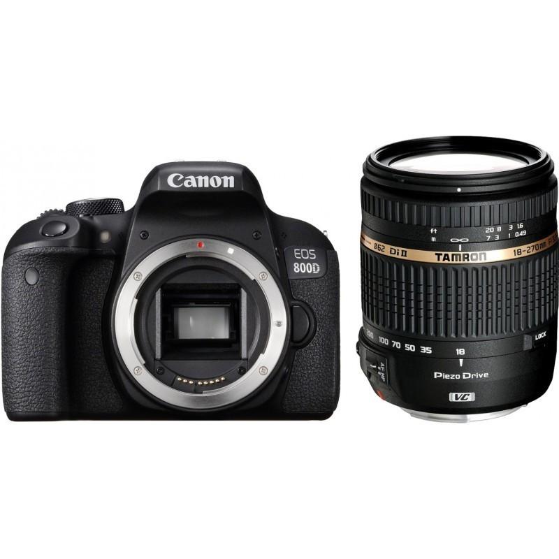 Canon EOS 800D + Tamron 18-270mm VC PZD