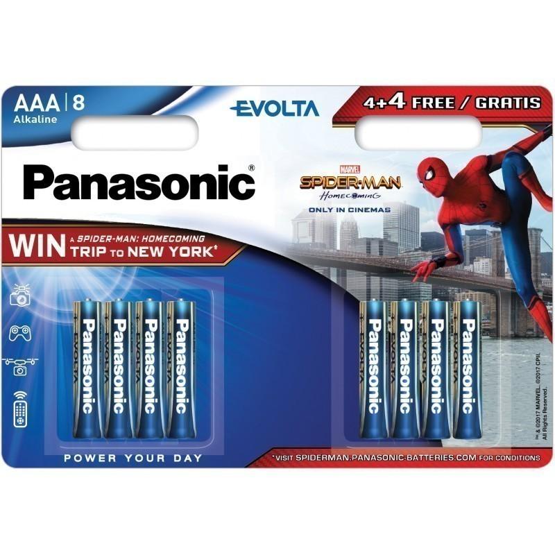 Panasonic baterija LR03EGE/8B (4+4 gb.)