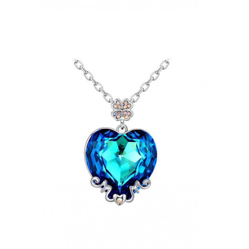 4a055118050 OiOi Suure sinise südamega kaelakee - Ehted - Photopoint