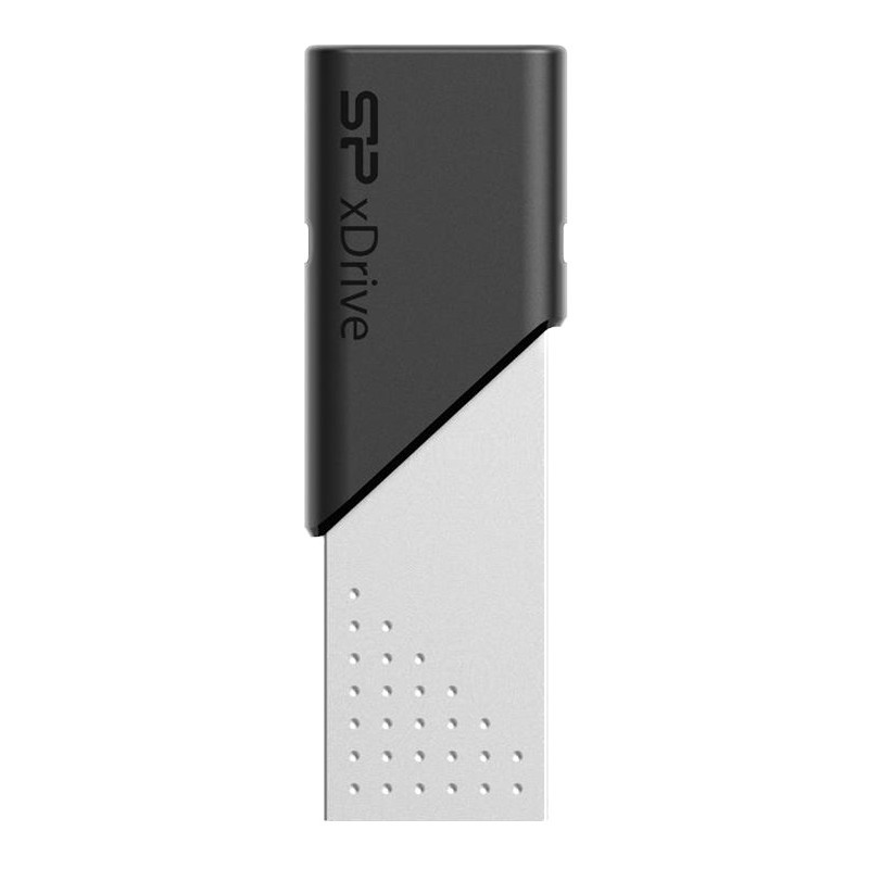 Silicon Power mälupulk 32GB xDrive Z50 USB 3.0, must/hõbedane