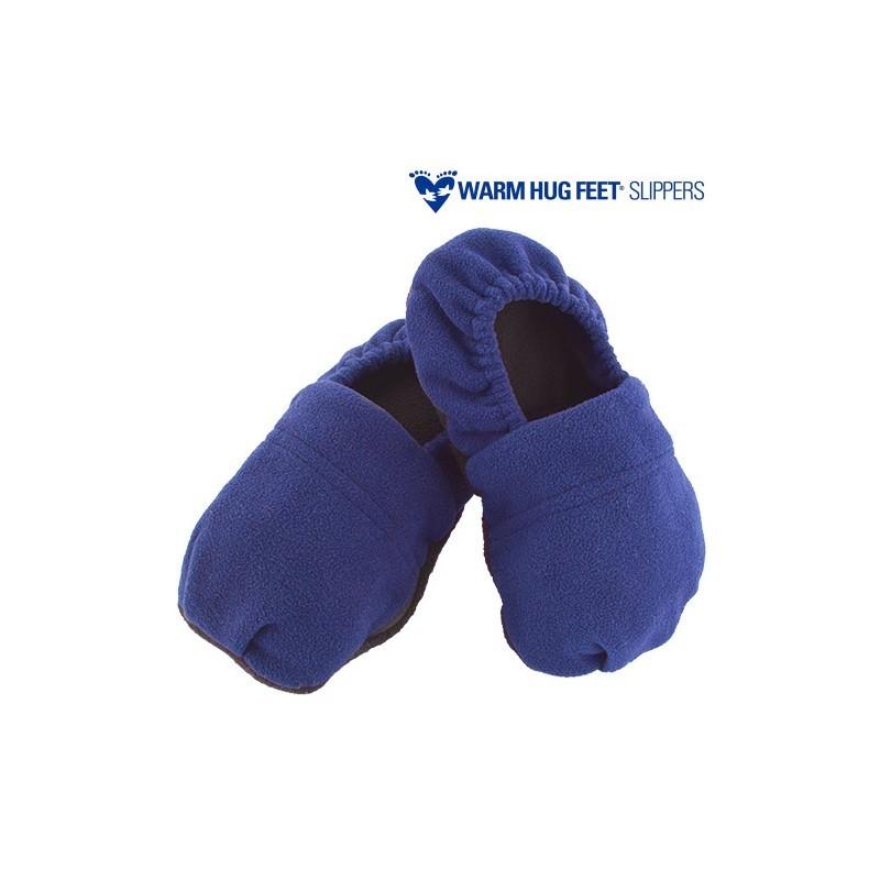 Warm Hug Feet Microwavable Slippers Blue