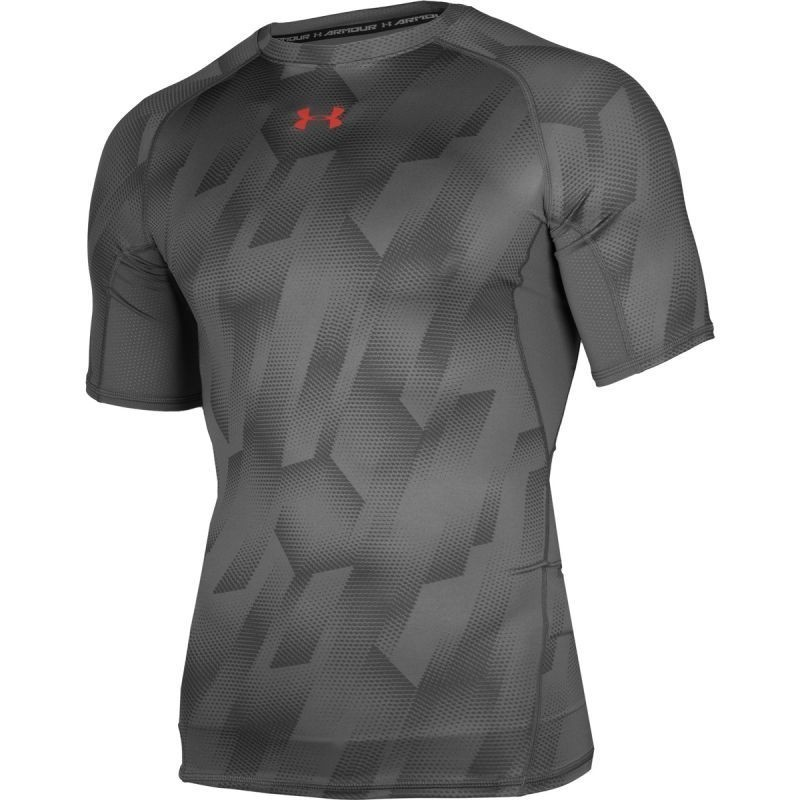 3afcee8eb5404 Men s compression shirt Under Armour HeatGear® Armour Printed Short Sleeve  Compression M 1257477-042