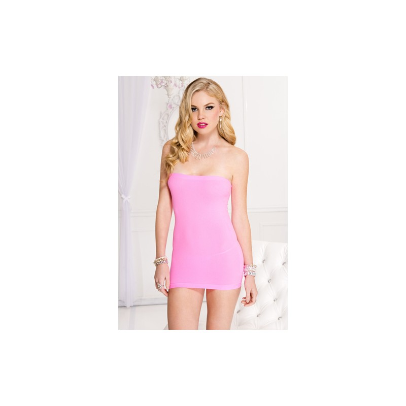 18e7cb3c65de7a Roze Strapless Jurk - Clothes - Photopoint