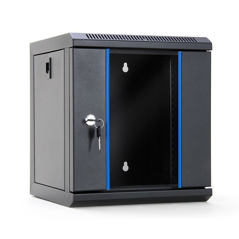 Startn Rack Wall Mount Cabinet 10 6u 312x300mm Black Glass