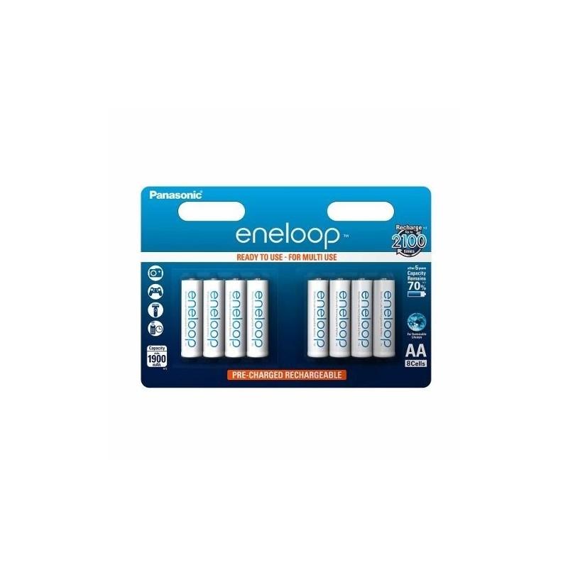 Panasonic eneloop akupatarei R6/AA 1900mAh 8tk