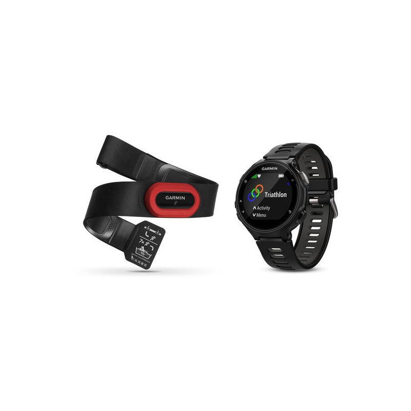 Garmin Forerunner 735XT Run, must/hall + pulsivöö