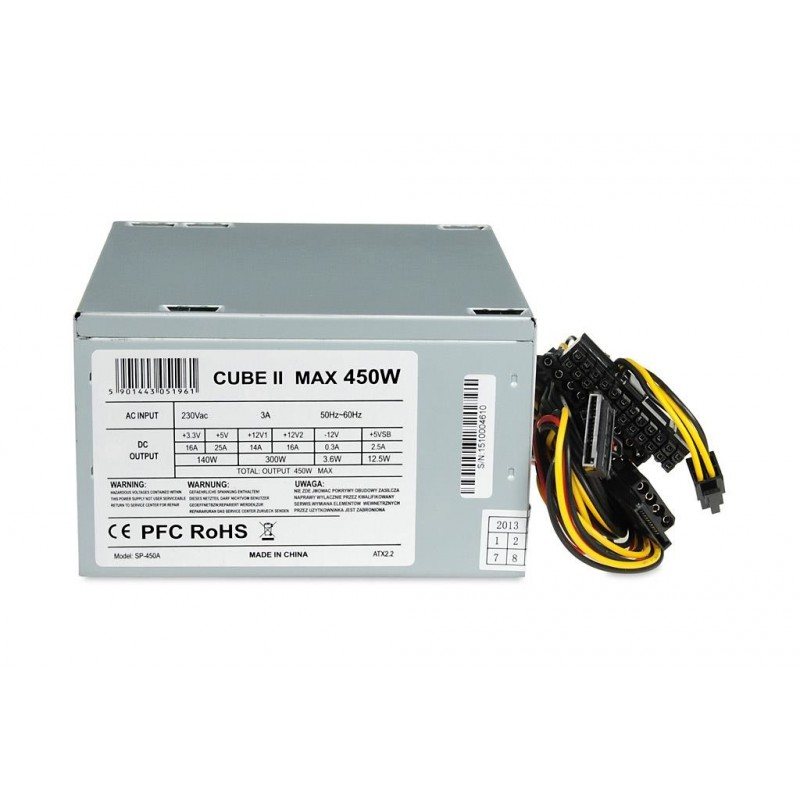 POWER SUPPLY I-BOX CUBE II ATX 450W 12 CM FAN - PSU - Photopoint