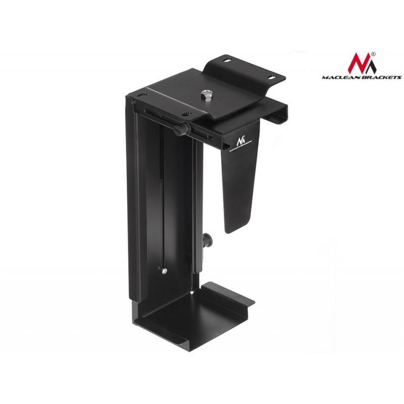 Maclean MC713 B Adjustable UnderDesk Wall CPU Mount TV wall