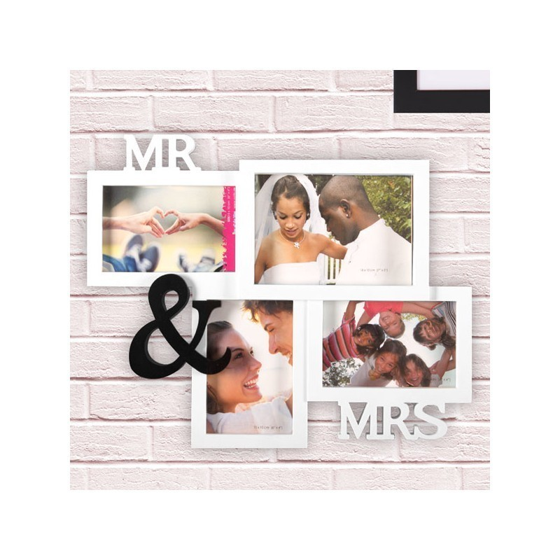 mr mrs multi photo frame - Mr And Mrs Frame
