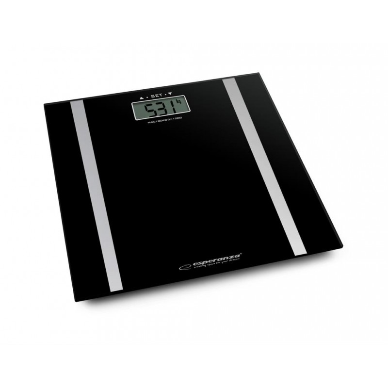 Esperanza Ebs013k Bathroom Scale With Body Fat Measure Fit Black