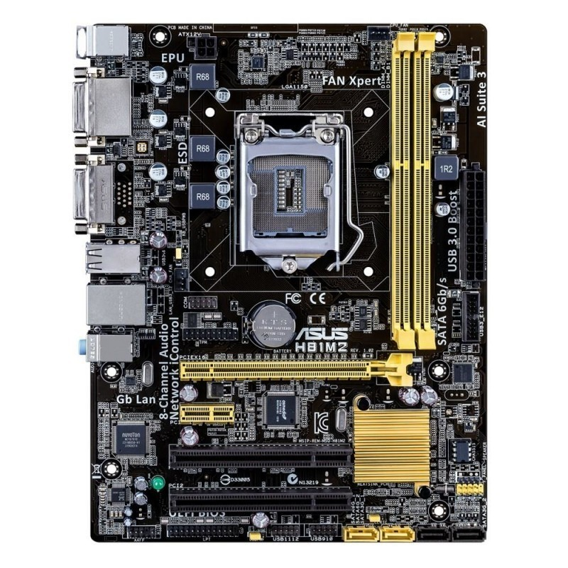 Asus motherboard H81M2/C/SI H81 2xDIMM 16GB DVI-D/DVI Micro-ATX