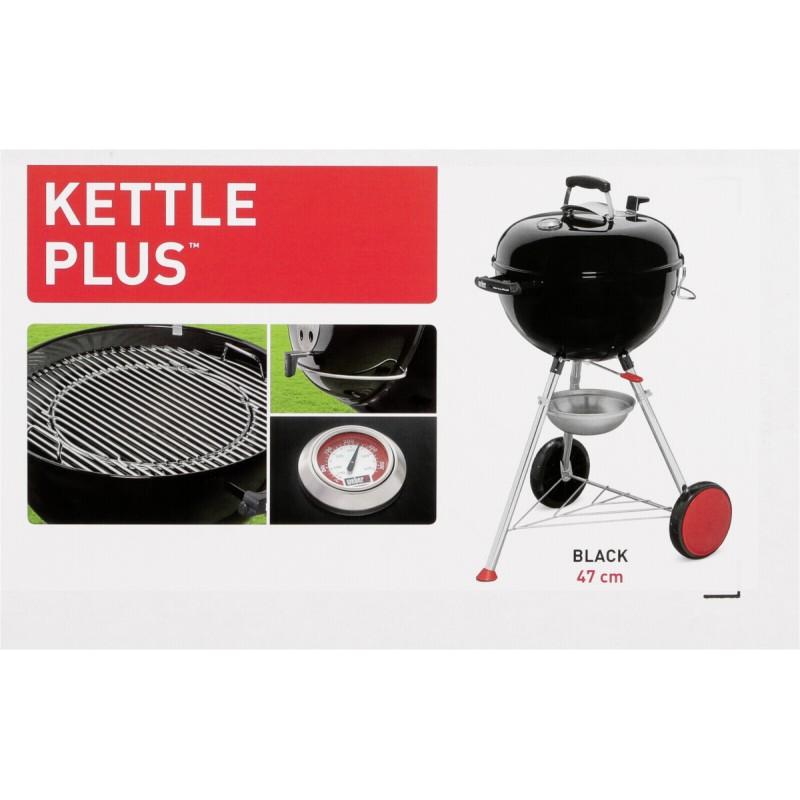 weber original kettle plus 47cm black 13601004 og u grili photopoint. Black Bedroom Furniture Sets. Home Design Ideas