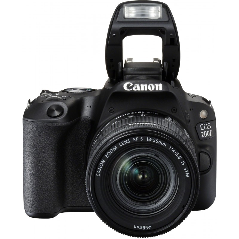 Canon EOS 200D + 18-55mm IS STM Kit, black