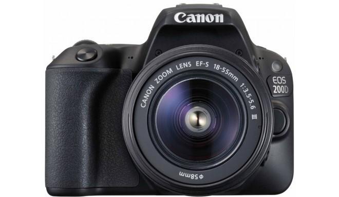 Canon EOS 200D + 18-55mm DC III Kit, черный
