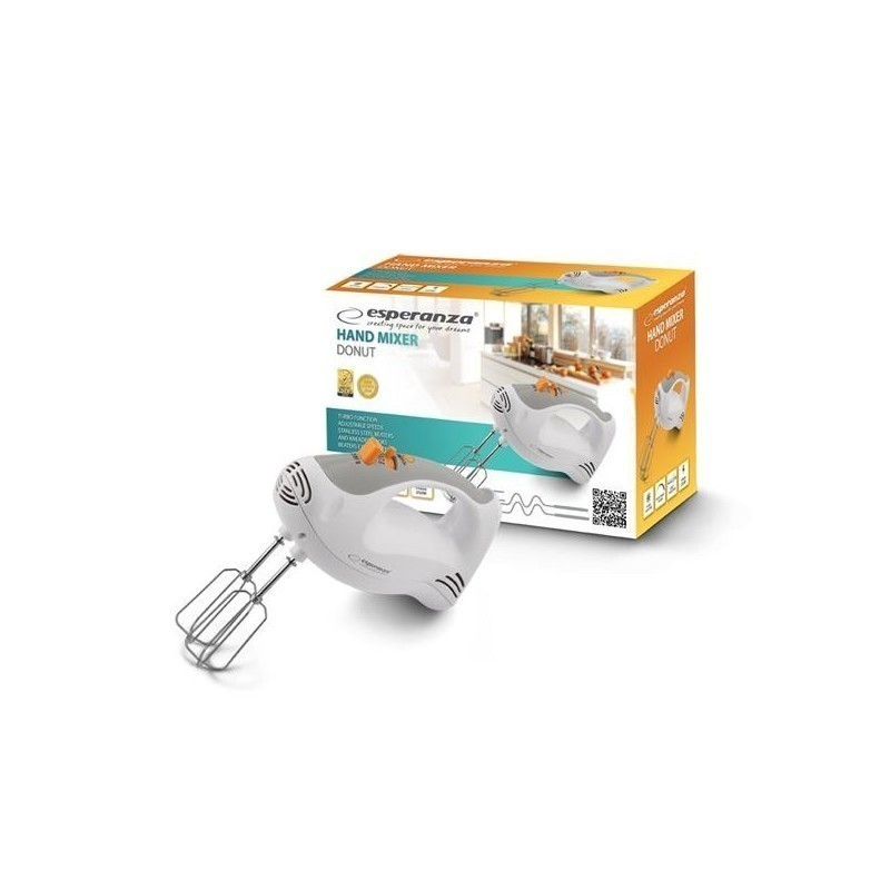 Esperanza hand mixer Donut, white/grey (EKM009)