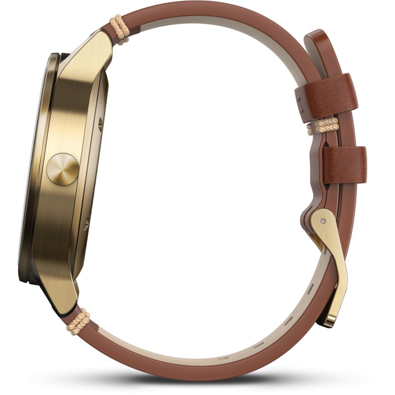 Garmin Vivomove Premium, gold/leather