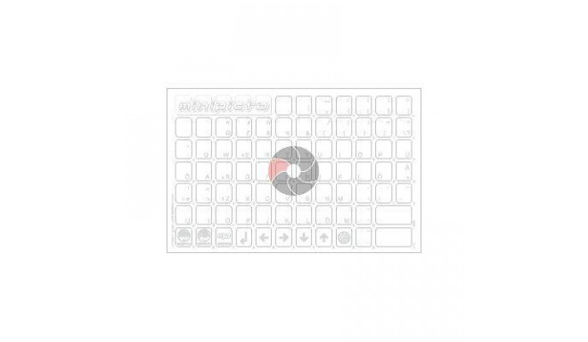 Klaviatūras uzlīmes KB-EE-UNI01CLRWHIT-G