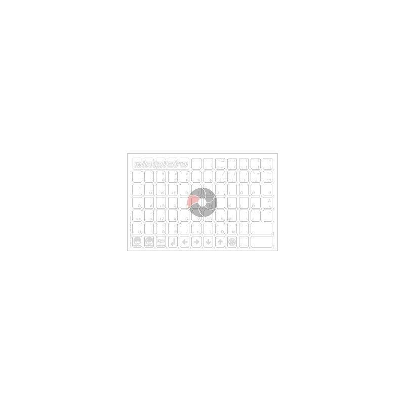 Klaviatuurikleebis KB-EE-UNI01CLRWHIT-G