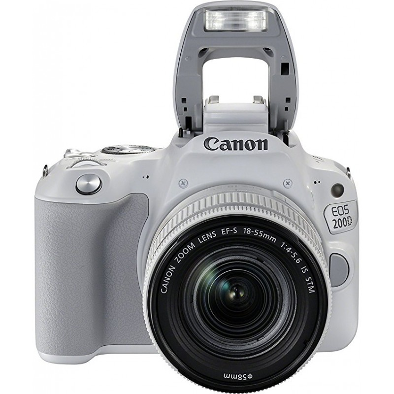 Canon EOS 200D + 18-55mm IS STM, valge