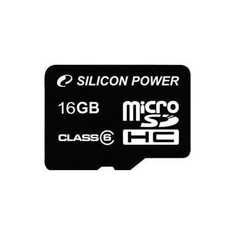 Silicon Power mälukaart microSDHC 16GB Class 6 + adapter