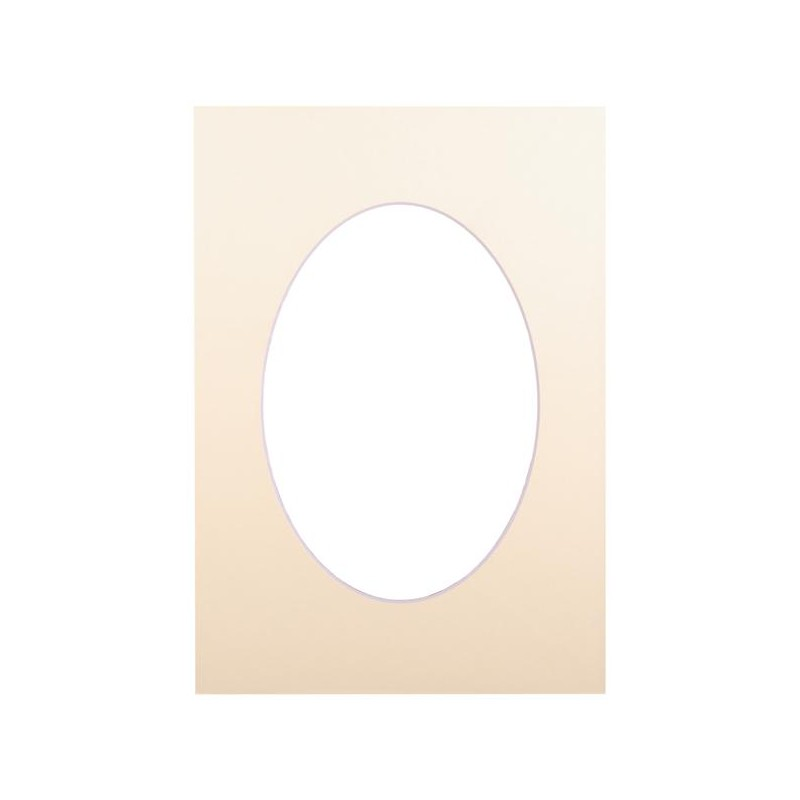 Passepartout 15×21, bisquit oval