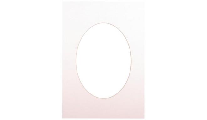 Passepartout 15x21, soft white oval