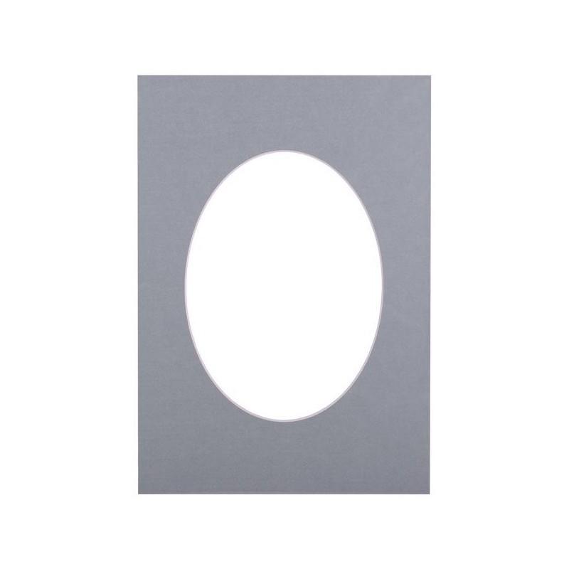 Passepartout 15×21, bluish oval