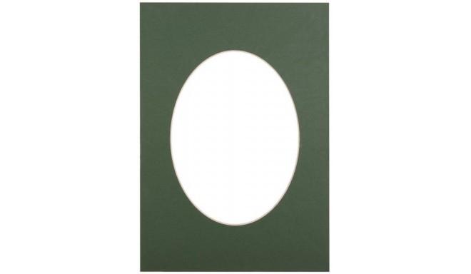 Passepartout 15x21, green oval