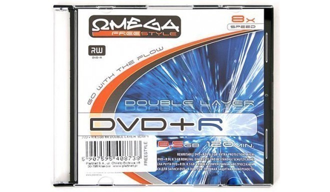 Omega Freestyle DVD+R DL Double Layer printable 8,5GB 8x slim