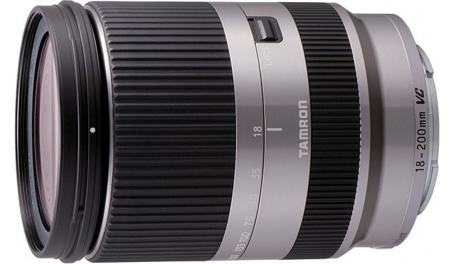 Tamron 18-200mm f/3.5-6.3 DI III VC objektiiv Sony E, hõbedane