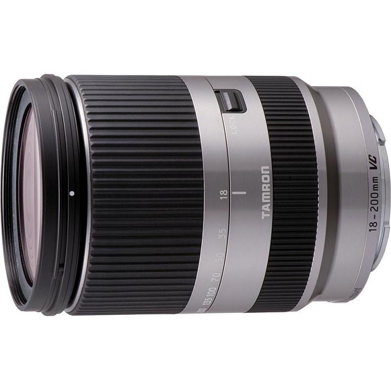 Tamron 18-200mm f/3.5-6.3 DI III VC objektiiv Sony NEX-le, hõbedane