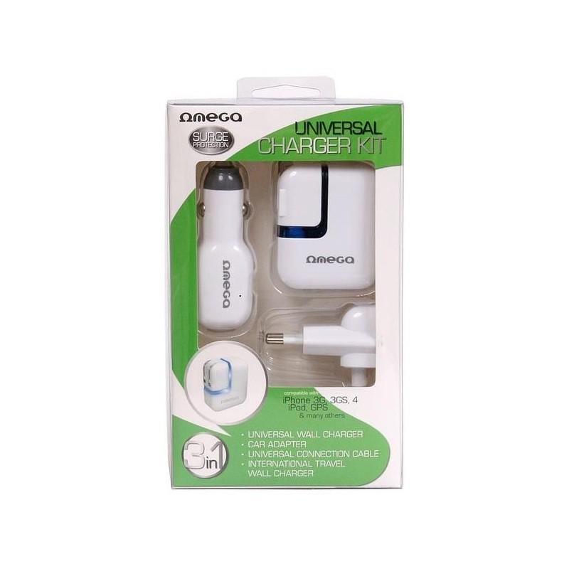 e014a76c55e Omega reisilaadija komplekt (41225) - USB laadijad - Photopoint