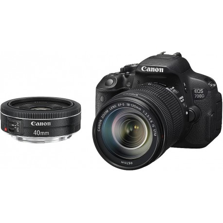 Canon EOS 700D + 18-135mm STM + 40mm STM Kit