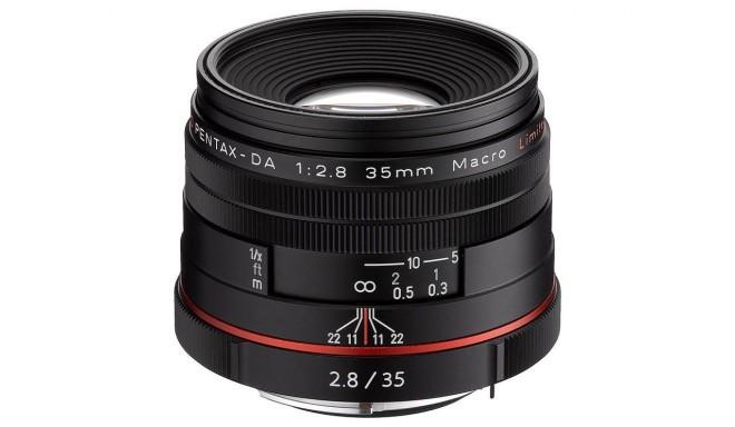 HD Pentax DA 35mm f/2.8 Macro Limited objektiiv, must