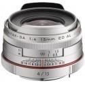 HD Pentax DA 15mm f/4 ED AL Limited hõbedane objektiiv