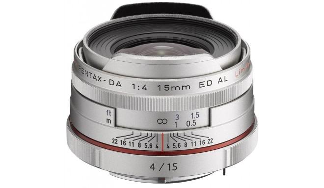 HD Pentax DA 15мм f/4 ED AL Limited объектив, серебристый