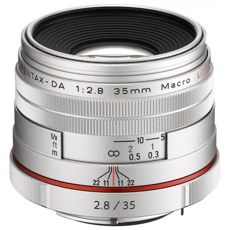 HD Pentax DA 35mm f/2.8 Macro Limited objektiiv, hõbedane