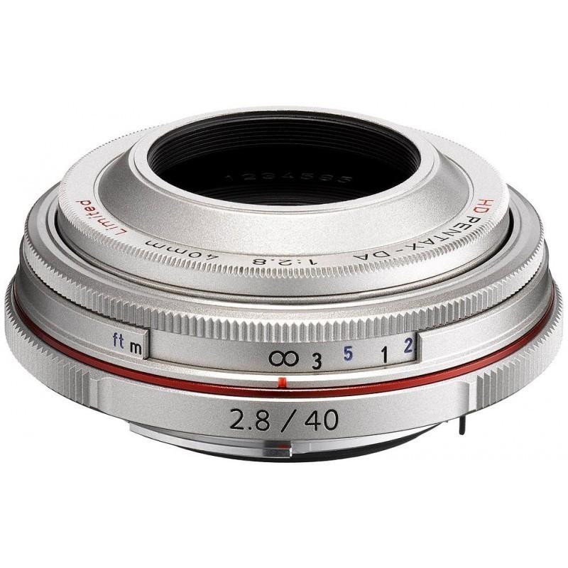 HD Pentax DA 40mm f/2.8 Limited hõbedane objektiiv