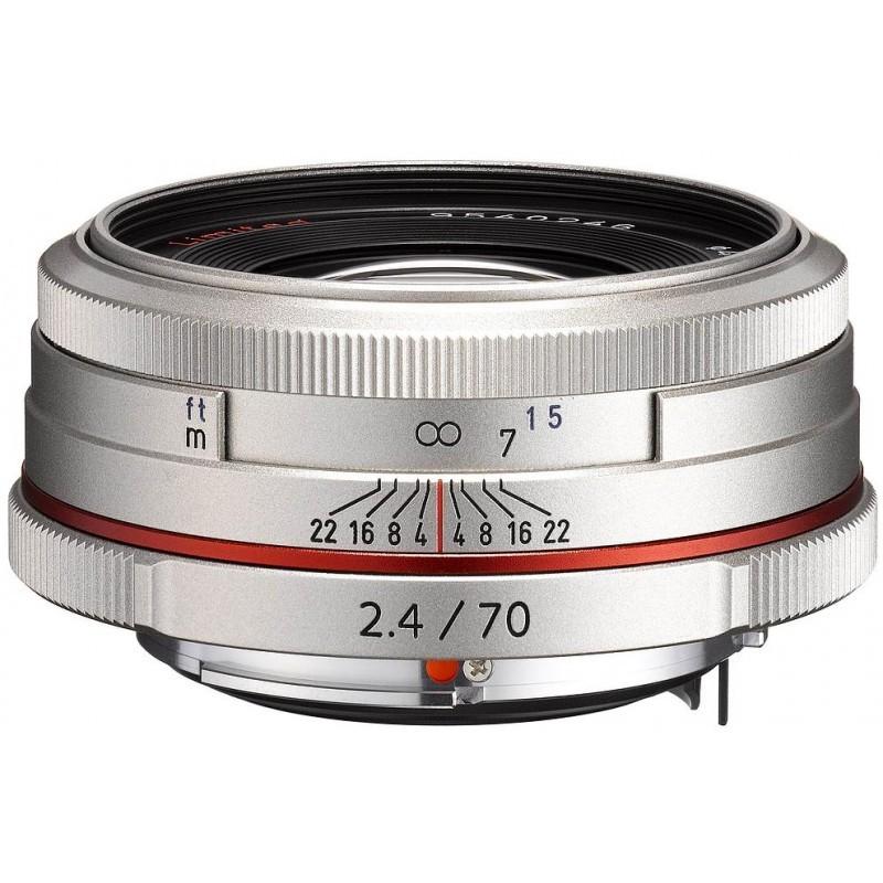 HD Pentax DA 70mm f/2.4 Limited objektiiv, hõbedane