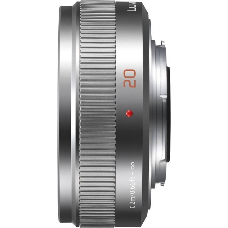 Panasonic Lumix G 20mm f/1.7 II ASPH hõbedane objektiiv