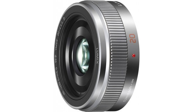 Panasonic Lumix G 20mm f/1.7 II ASPH, silver