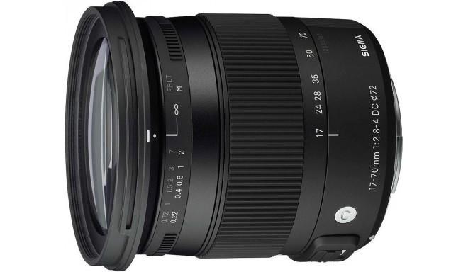 Sigma 17-70mm f/2.8-4 DC Macro OS HSM Contemporary objektiiv Nikonile