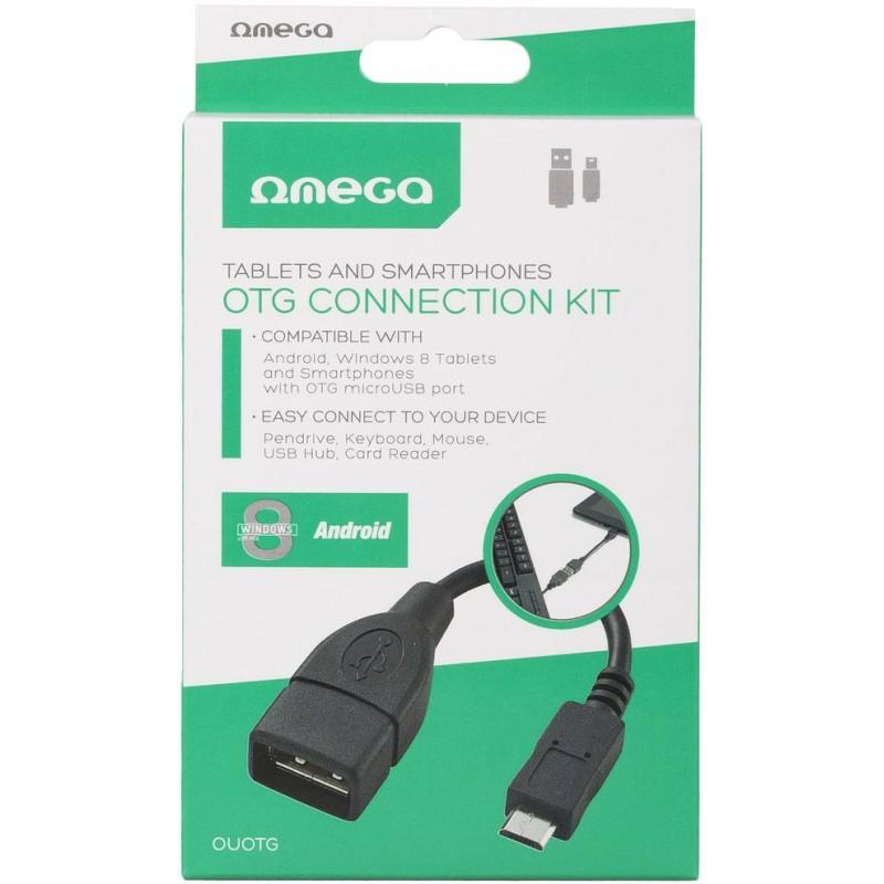 Omega kaabel microUSB - USB OTG 0,15m (OUOTG)
