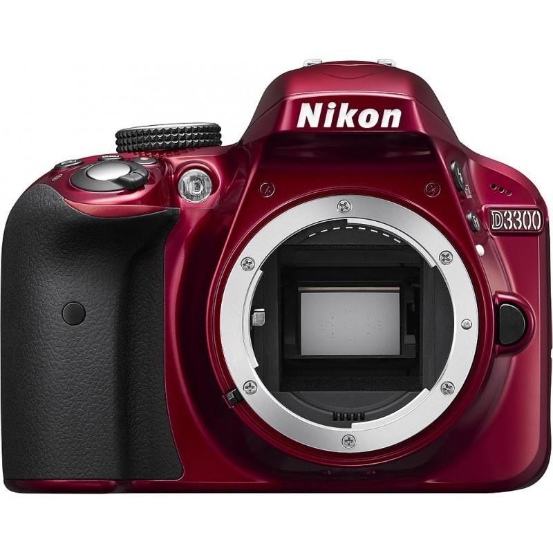 Nikon D3300 + 18-55VR II Kit, punane