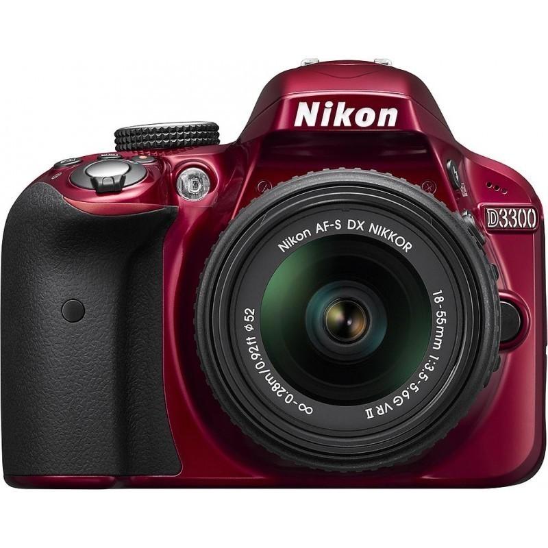 Nikon D3300 + 18-55mm VR II Kit, punane