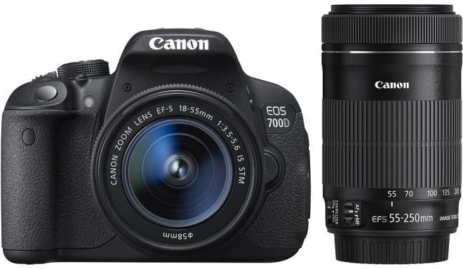 Canon EOS 700D + 18-55мм STM + 55-250мм STM Kit