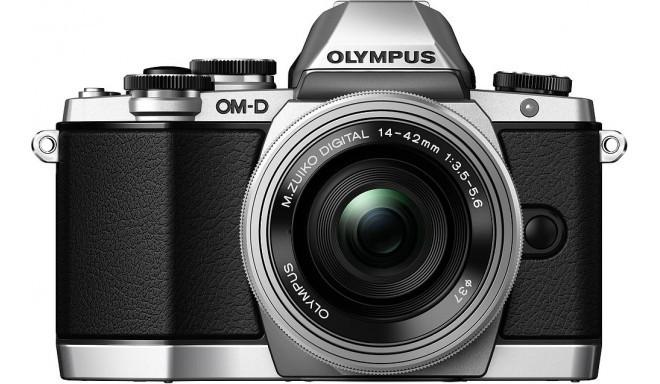Olympus OM-D E-M10 + 14-42mm EZ Kit, hõbedane