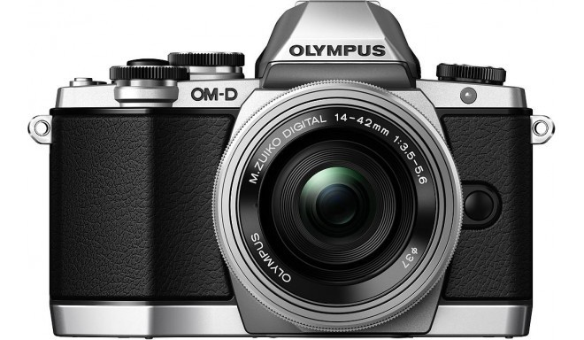 Olympus OM-D E-M10 + 14-42мм EZ Kit, серебристый