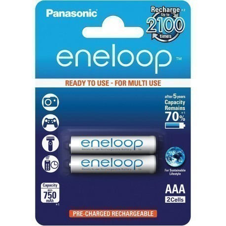 Panasonic eneloop akumulators AAA 750 2BP