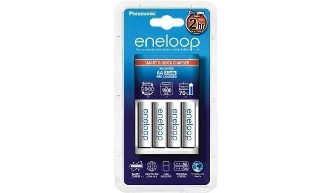 Panasonic eneloop laadija BQ-CC16 + 4x1900